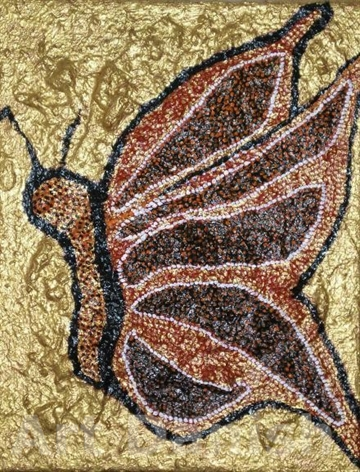 GOLDEN BUTTERFLY  Acryl